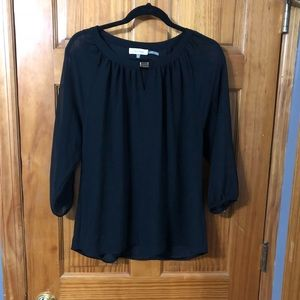 Calvin Klein Black with Gold Accent Blouse